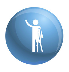 Man prosthesis hand icon simple style vector