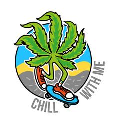 Marijuana skater vector