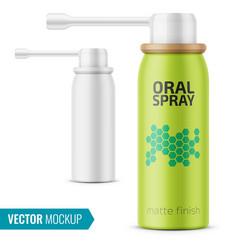 Matte oral spray bottle template vector