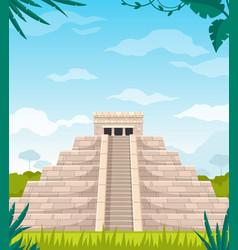 maya civilization monument cartoon vector image