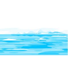 melting glaciers nature landscape background vector image
