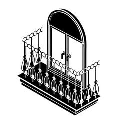 metal balcony icon simple style vector image
