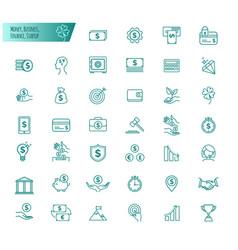 money business finance startup in line design vector image