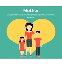 Mother with Children Banner Concept vector image