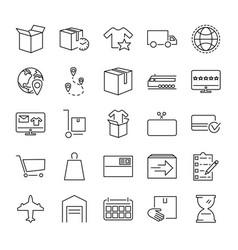 order fulfillment icon set vector image