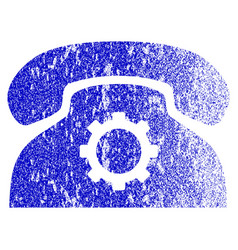 Phone settings grunge textured icon vector