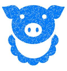 Pig reward icon grunge watermark vector