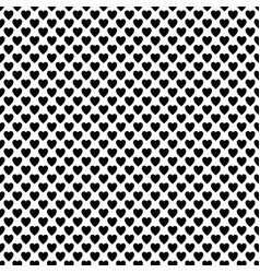 repeating monochrome heart pattern design vector image