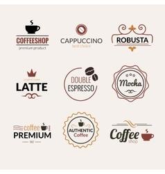 Retro Vintage Coffee Labels Logo design vector image