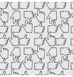 Seamless pattern hand drawn sketch icons hands vector