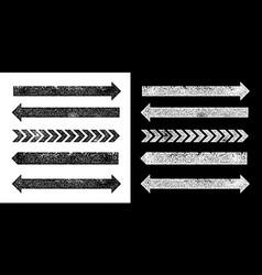 set black grunge texture arrrows vector image
