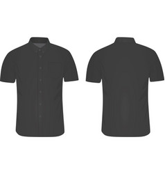 Short sleeve shirt vector