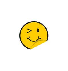 smile template design vector image