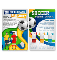 soccer club team football match poster vector image