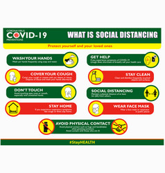social distancing poster or public health vector image