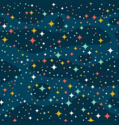 Stars in sky vector