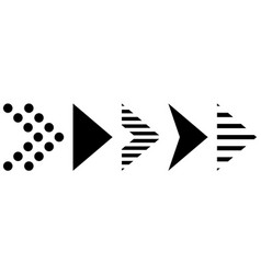 super offer to set different arrows flat style vector image