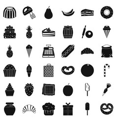 Sweet chocolate icons set simple style vector