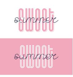 sweet summer font lettering sweet summer vector image