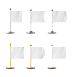 Table desk flag set realistic vector