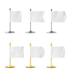 Table desk flag set realistic vector