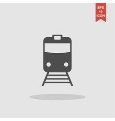 Train icon Flat design style vector image