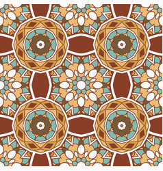 vintage seamless ceramic tile design pattern vector image