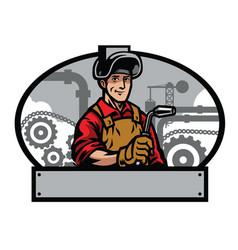 Welder and welding tools vector