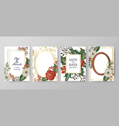 winter holiday background invitation wedding vector image