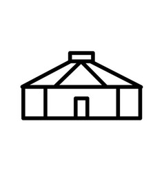 Yurt icon vector