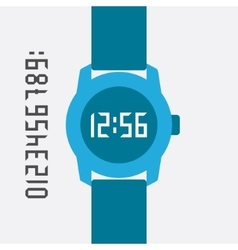 Flat Hand Watch design elements vector image