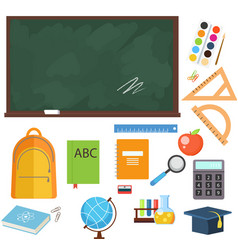 set from school objects vector image
