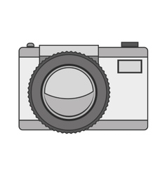 Silhouette tech digital camera with flash vector