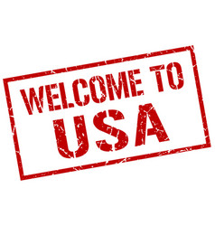 Welcome to usa stamp vector