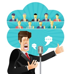 Businessman speeching vector image