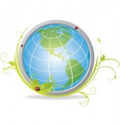 ecological globe vector image