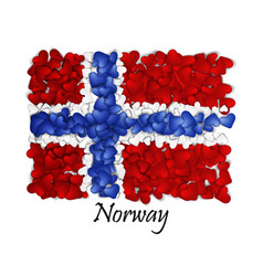 flag love norway flag heart glossy with love vector image vector image