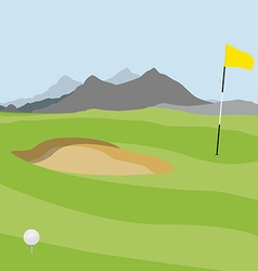 Golf field vector image vector image