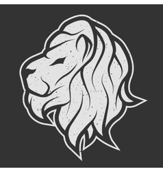 Lion symbol the logo for dark background vector image