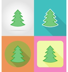 christmas and new year flat icons 01 vector image vector image