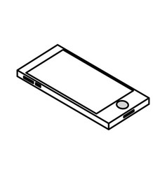 line technology smartphone to electronic vector image vector image