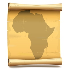 Paper Scroll with Africa vector image
