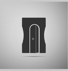 Pencil sharpener icon isolated on grey background vector