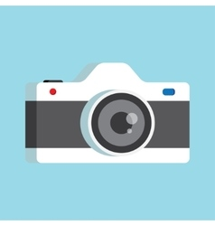 photo camera with lens vector image vector image
