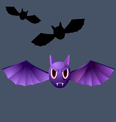 terrible purple vampire bat vector image