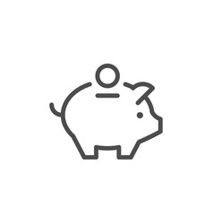 money box line icon vector image