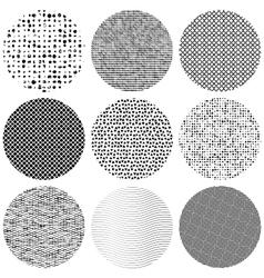 Set Texture Circle vector image