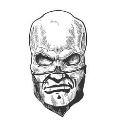 Skull with bandana human pattern vector image