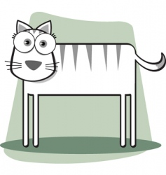 square animal bw cat vector image vector image