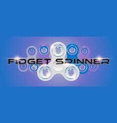 white fidget finger spinner horizontal web banner vector image